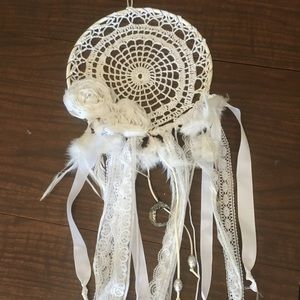 Bohemian White dreamcatcher with moon
